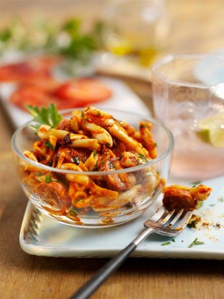 Fry some chorizo.