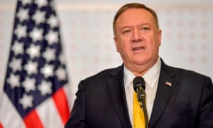 Mike Pompeo in Colombia on Tuesday.