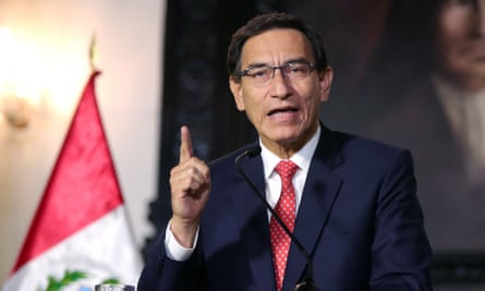Peruvian president Martin Vizcarra
