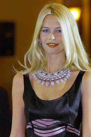 Claudia Schiffer: plenty to laugh about.
