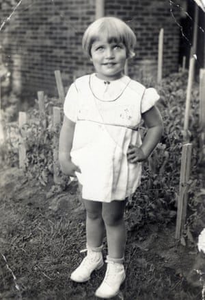 Joan Ruth Bader, aged two in 1935, at her home in Brooklyn, New York.