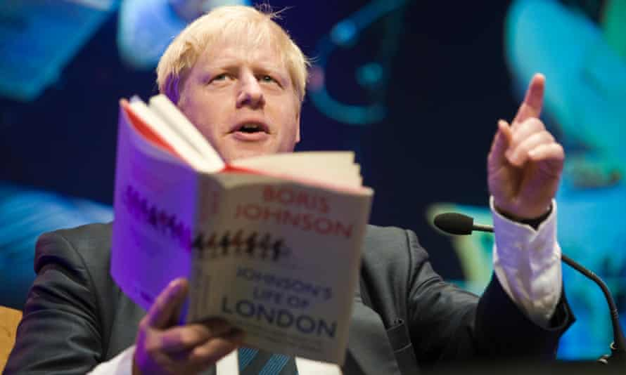 Boris Johnson reads from his book Johnson's Life of London, which he wrote while the city's mayor.
