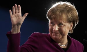 Angela Merkel during the party convention of the CDU party in Berlin, Germany.