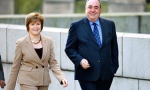 Nicola Sturgeon and Alex Salmond in 2012