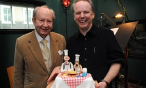 Peter Sallis with Nick Park, the creator of Wallace and Gromit.