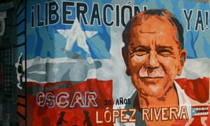 A mural dedicated to Oscar López Rivera in Puerto Rico.