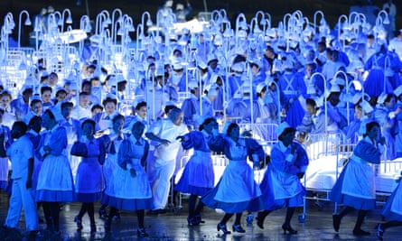'Strangers would thank me for helping them feel proud to be British' … the 2012 London Olympic Games opening ceremony.