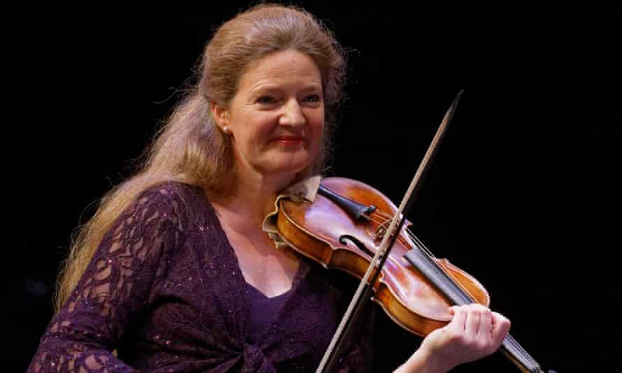 Inspired … Rachel Podger at the Brecon Baroque Festival at Theatr Brycheiniog in Brecon.
