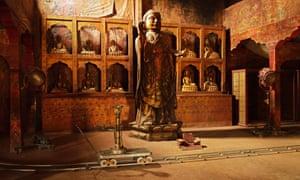 A set at a film studios in Ouarzazate, Morocco