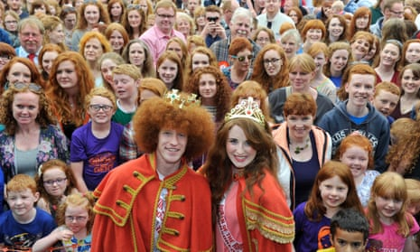 A group of people with red hair at an annual convention in Ireland.