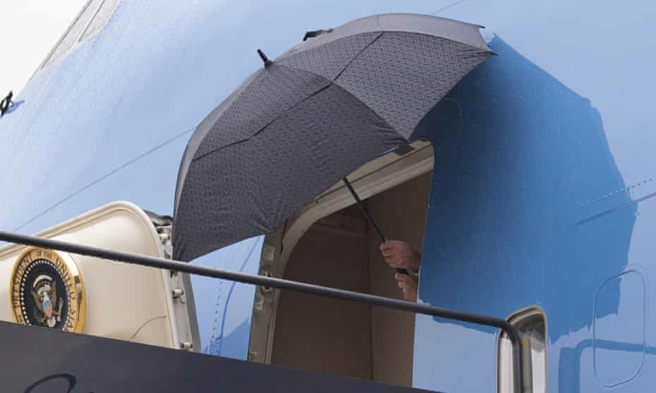 Unmanageable umbrellas were just the start of Donald Trump's problems in 2018.