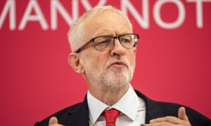 19/08/2019 Corby .Northamptonshire. Labour leader Jeremy Corbyn makes a speech saying Labour will move a vote of no confidence in Prime Minister Boris Johnsons government. Photo SEAN SMITH