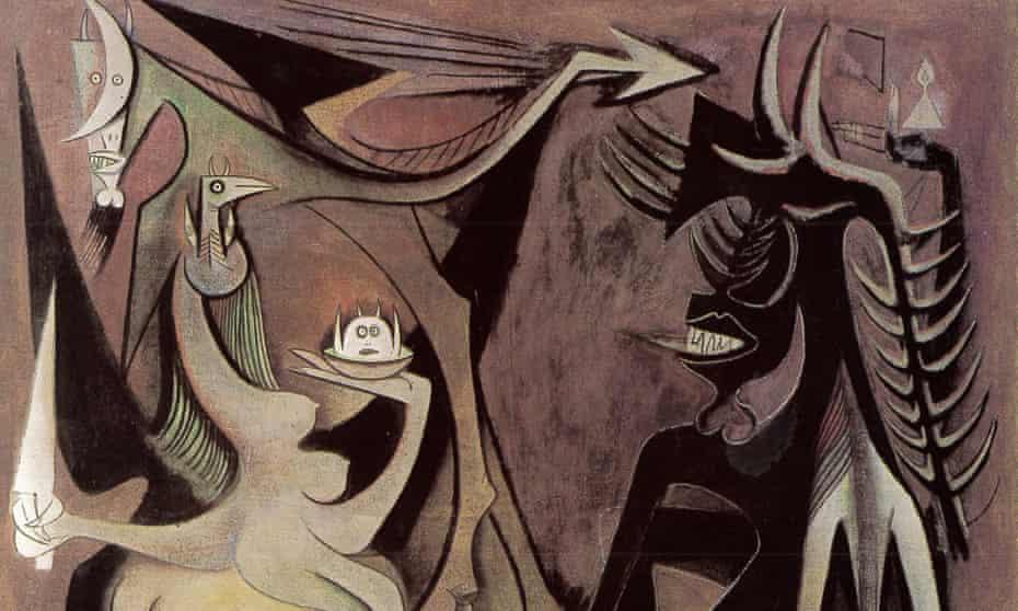 Detail from Bélial, Emperor of the Flies, 1948 by Wifredo Lam