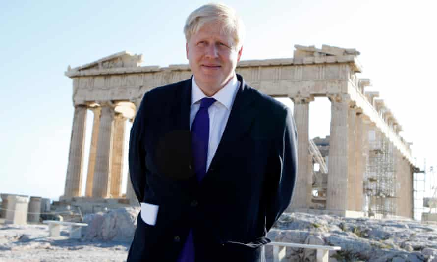 Boris Johnson during a visit to the Acropolis in 2012 as mayor of London.