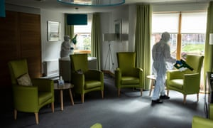 Cleaners at the David Walker Gardens care home near Glasgow.