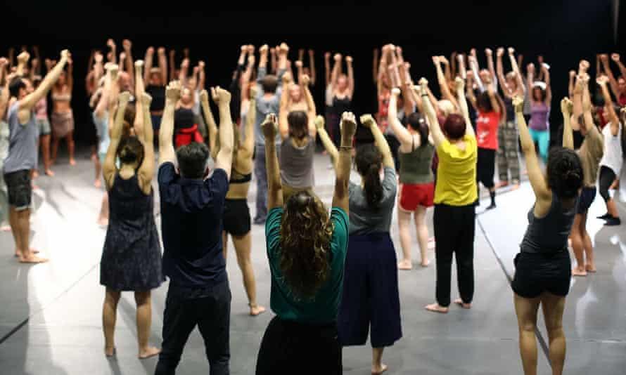 A pre-Lockdown Gaga dance class.