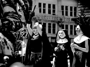 The Sisters of Perpetual Indulgence Performing an exorcism in Union Square San Francisco during the Democratic National Convention.