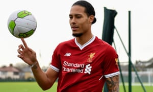 Liverpool's new signing Virgil van Dijk pictured at Melwood training ground.
