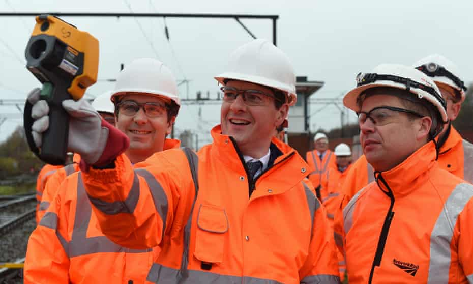 George Osborne in Crewe, on the proposed HS2 route.