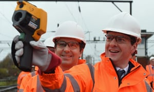George Osborne during a visit to Crewe on Monday.