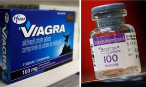 A box of Pfizer drug Viagra and a bottle of Allergan product Botox are seen in a combination of file photos. Pfizer Inc's and Allergan Plc's boards of directors were due to approve their merger agreement on November 22, 2015, in the healthcare sector's largest ever deal, according to people familiar with the matter. REUTERS/Mark Blinch/Shannon Stapleton/Files