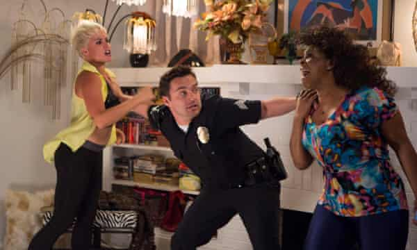 US-based stuntwoman Jwaundace Candece in Let's Be Cops.