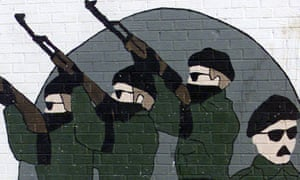 A Belfast mural dedicated to IRA men who died during the Troubles