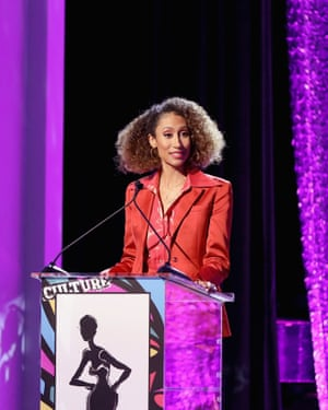 Elaine Welteroth speaks at an awards ceremony organised by the magazine Essence in Los Angeles in February