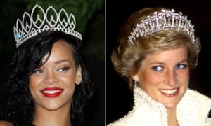 Rihanna and Diana put on the bling.