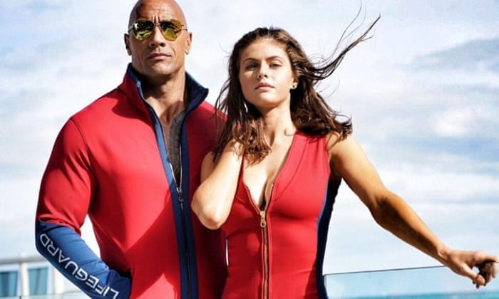 2914c41595aeb Baywatch trailer  The Rock