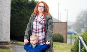 Kloey Clarke at home in Devizes, with her son Seth.