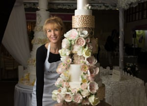 Monica Cavallaro of Moreish Cakes with one of her creations