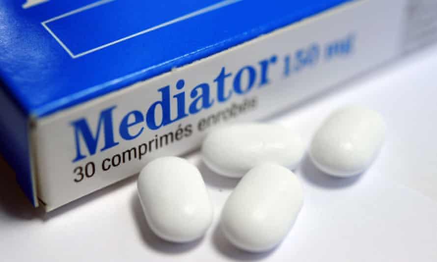 Boxes of the diabetes drug Mediator