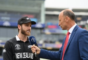 Kane Williamson explains his decision to Nasser Hussain.