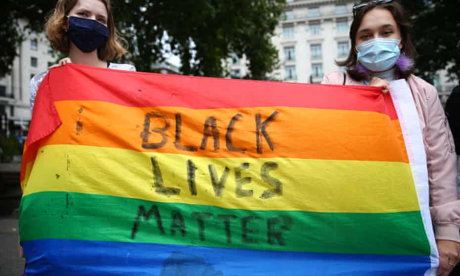 A Black Lives Matter protest in London in July, 2020
