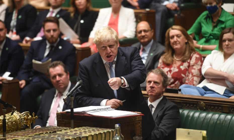 Boris Johnson in PMQs