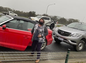Anne Cahill Lambert like many drivers was left stranded at the NSW-Victoria border.