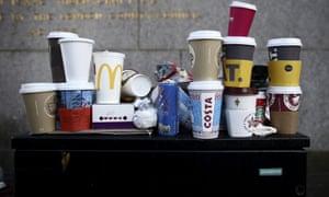 Takeaway cups.