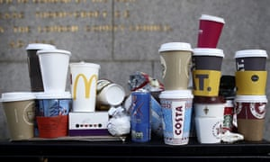 Greenpeace says the 'levy on disposable coffee cups seems inevitable now, but that should be just the tip of the iceberg'.