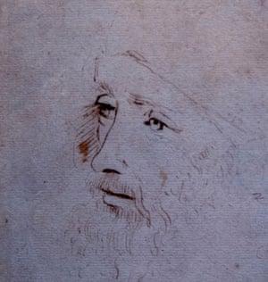 A portrait of Leonardo da Vinci from the Royal Collection at Windsor Castle.