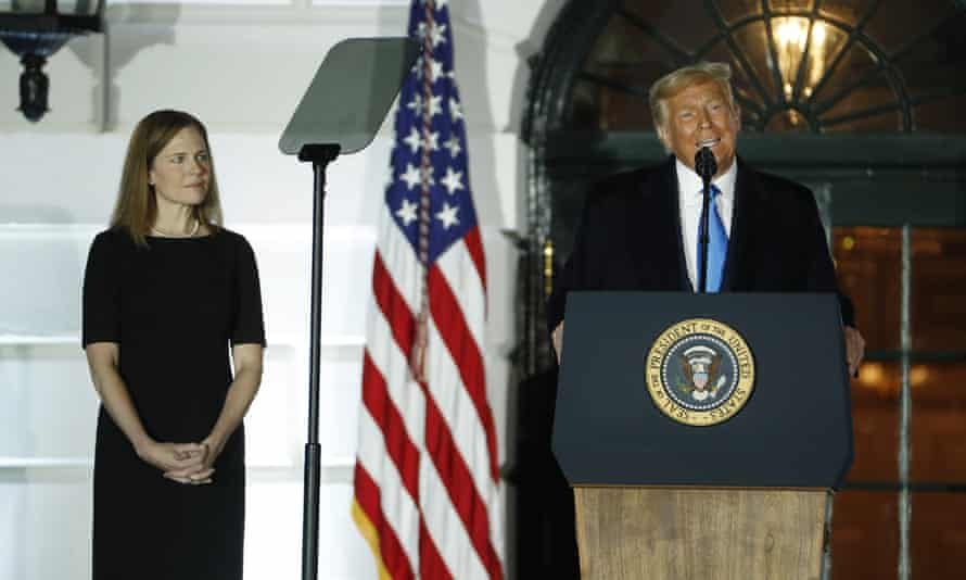 The White House swearing-in of Amy Coney Barrett as a supreme court justice was subsequently labelled a coronavirus super-spreader event.