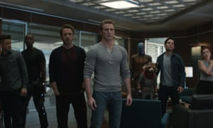 The Avengers gang, each haunted by their own 'existential quandary', in Avengers: Endgame