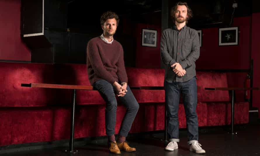 Hidden world: William Fairman and Max Gogarty, the Chemsex diectors, photographed at the Soho Theatre in central London.