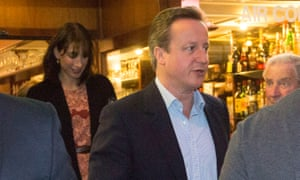David and Samantha Cameron at Il Posto restaurant.