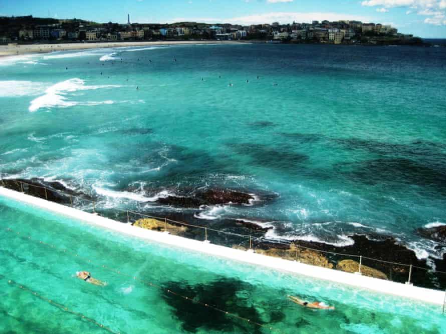 Australia's Cities & LandmarksView of Bondi beach and Bondi Icebergs pool, Sydney