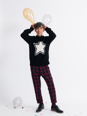 Model wears jumper, £110, frenchconnection.com. Trousers, £25, forever21.com. Brogues, £110, dunelondon.com.