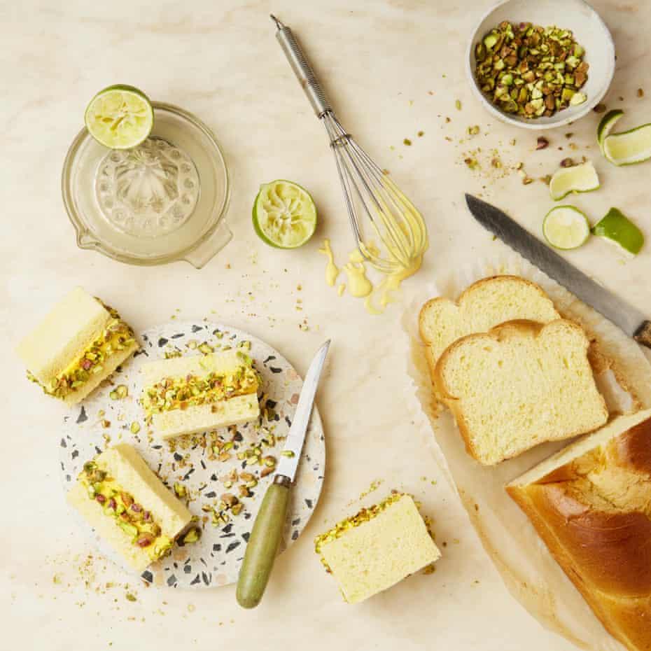 Yotam Ottolenghi's no-churn mango ice-cream sandwiches with pistachios