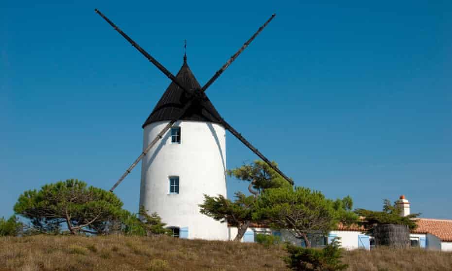 Noirmoutier has picturesque windmills.