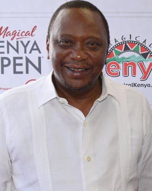 Kenyan President Uhuru Kenyatta said 'Your story is the story of Africa, a young continent bursting with talent'.