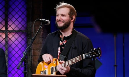 Justin Vernon on Jimmy Fallon in 2014.